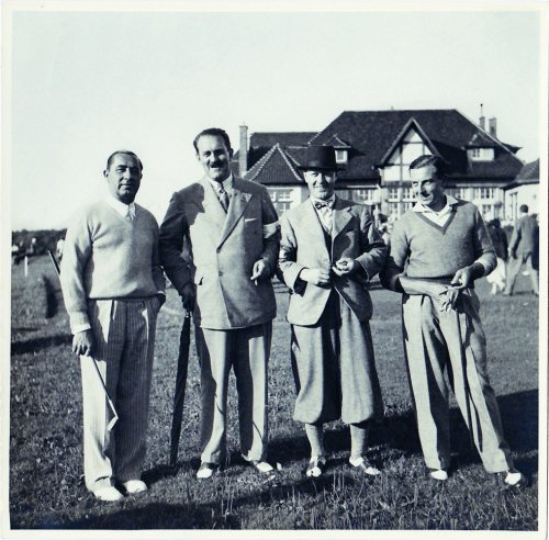 Match exhibition Walter Hagen - Henry Cotton en 1933